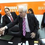 Funcionarios del gobierno en Reunión Paritarias 2015
