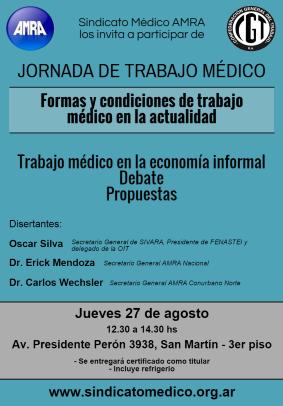 Jornada de Trabajo Médico 27 agosto 2015