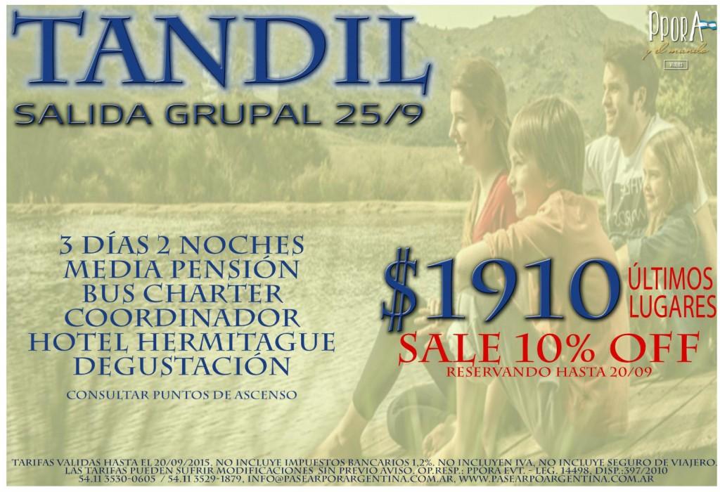 Turismo-Sindical-promoción-Tandil-10%-descuento