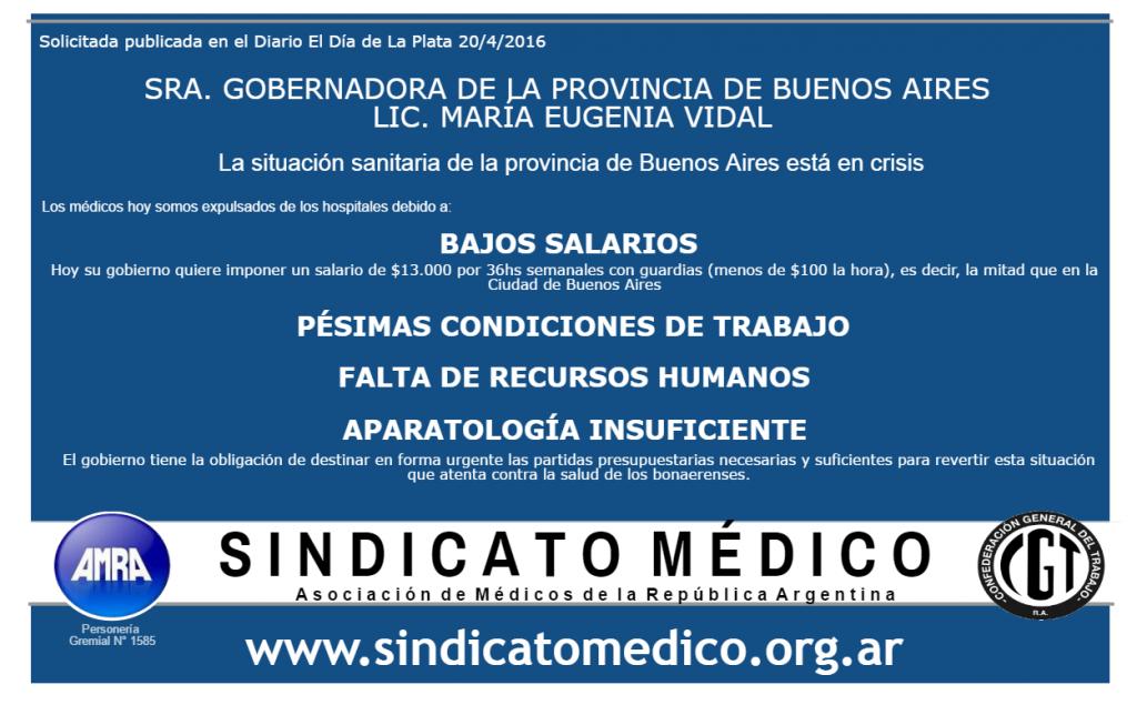 Solicitada Diario El día Sindicato AMRA 20-4-16
