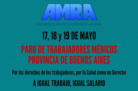 afiche-paro-amra-medicos-buenos-aires-17-18-19-mayo-2016