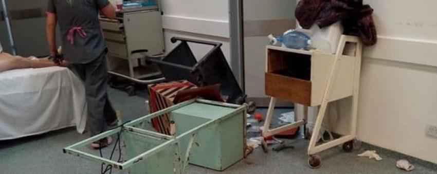 VIOLENCIA EN LA GUARDIA DEL HOSPITAL DE QUILMES